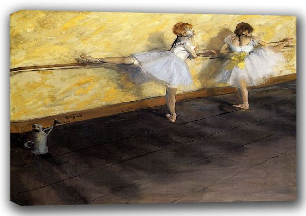 Degas, Edgar: Dancers Practicing at the Bar. Fine Art Canvas. Sizes: A4/A3/A2/A1 (001376)